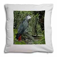 African Grey Parrot Soft Velvet Feel Scatter Cushion