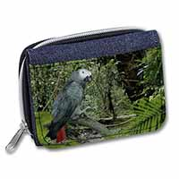 African Grey Parrot Girls/Ladies Denim Purse Wallet Birthday Gift Idea