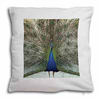 Rainbow Feathers Peacock Soft Velvet Feel Cushion Cover With Pillow Inner