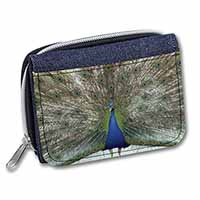 Rainbow Feathers Peacock Girls/Ladies Denim Purse Wallet Birthday Gift Idea