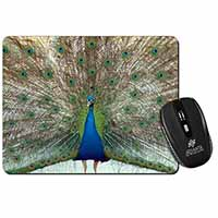Rainbow Feathers Peacock Computer Mouse Mat Birthday Gift Idea