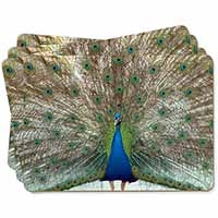 Rainbow Feathers Peacock Picture Placemats in Gift Box