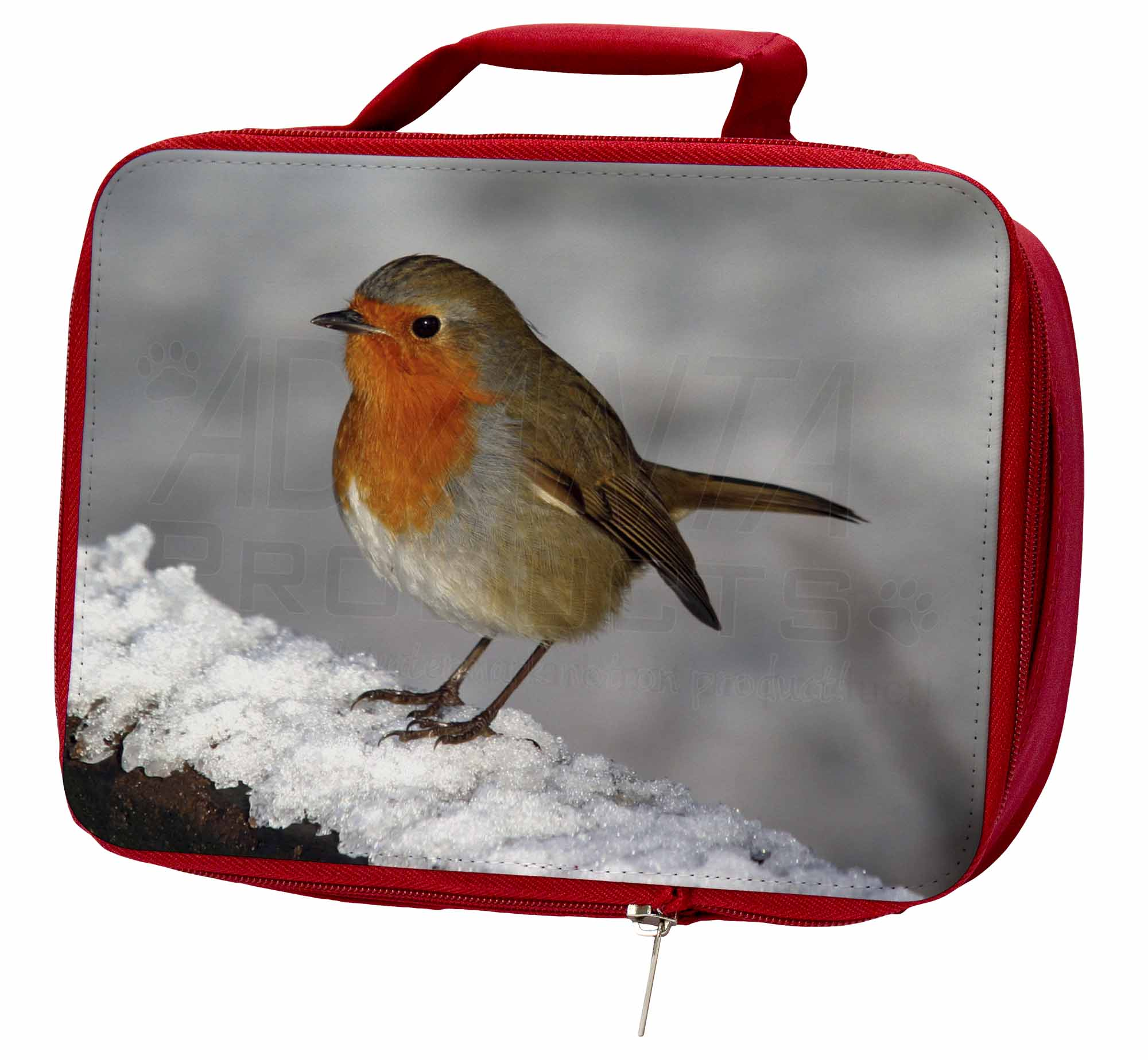 Robin on Lunch Snow Wall Insulated Red School Lunch on Box/Picnic Bag, AB-R15LBR 093411