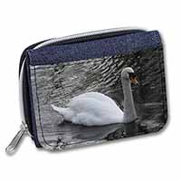 Beautiful Swan Girls/Ladies Denim Purse Wallet Birthday Gift Idea
