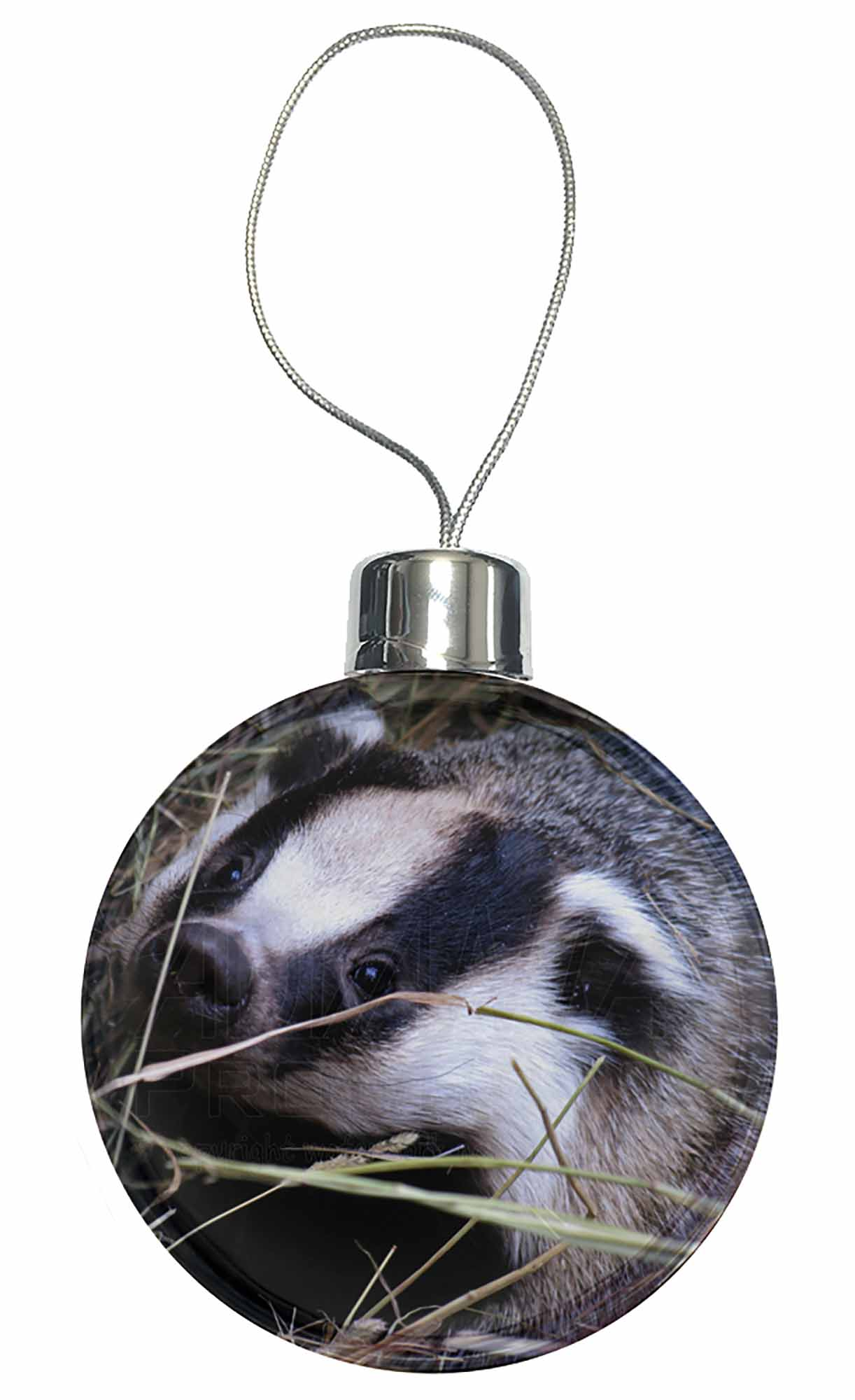 Badger in straw christmas tree bauble decoration gift aba for Badger christmas decoration