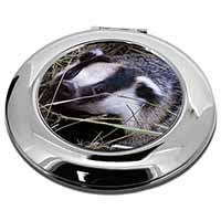 Badger in Straw Make-Up Round Compact Mirror Girly Gift