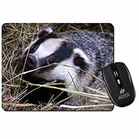 Badger in Straw Computer Mouse Mat Birthday Gift Idea
