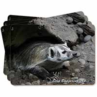 Badger-Stop Badgering Me! Picture Placemats in Gift Box