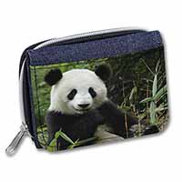 Beautiful Panda Bear Girls/Ladies Denim Purse Wallet Birthday Gift Idea