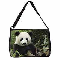 Beautiful Panda Bear Large Black Laptop Shoulder Bag School/College