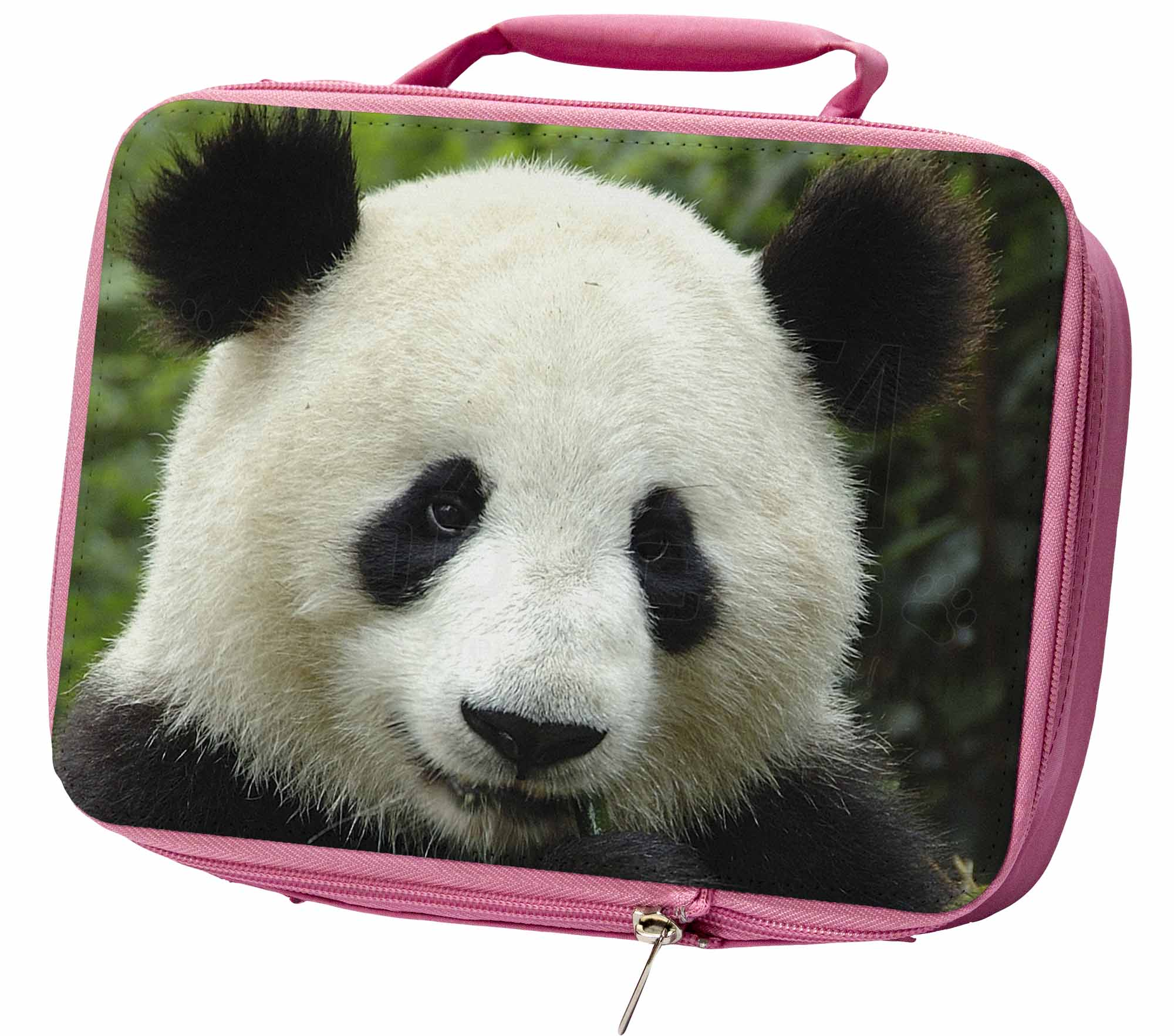 Home, Furniture & DIY Face of a Giant Panda Bear Insulated Pink School Lunch Box Bag ABP-3LBP
