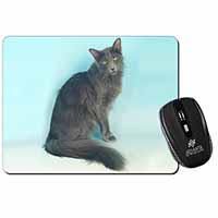 Silver Grey Javanese Cat Computer Mouse Mat Birthday Gift Idea