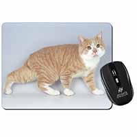 Ginger+White Manx Cat Computer Mouse Mat Birthday Gift Idea