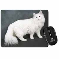 White Norwegian Forest Cat Computer Mouse Mat Birthday Gift Idea