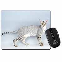 Oriental Black+Silver Cat Computer Mouse Mat Birthday Gift Idea