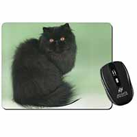 Black Persian Cat Computer Mouse Mat Birthday Gift Idea