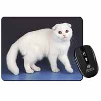 White Scottish Fold Cat Computer Mouse Mat Birthday Gift Idea