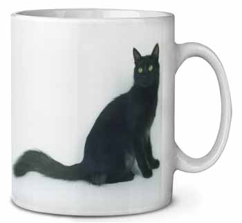 Black Turkish Angora Cat Coffee/Tea Mug Gift Idea