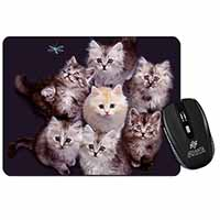 Cute Kittens+Dragonfly Computer Mouse Mat Birthday Gift Idea
