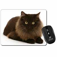 Chocolate Black Cat Computer Mouse Mat Birthday Gift Idea