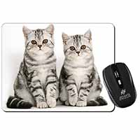 Silver Tabby Kittens Computer Mouse Mat Birthday Gift Idea