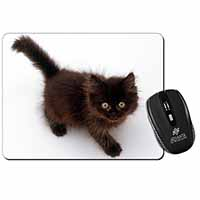 Chocolate Black Kitten Computer Mouse Mat Birthday Gift Idea