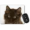 Fluffy Brown Kittens Face Computer Mouse Mat Christmas Gift Idea