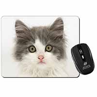 Grey, White Kittens Face Computer Mouse Mat Birthday Gift Idea