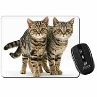 Two Brown Tabby Cats Computer Mouse Mat Birthday Gift Idea