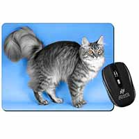 Silver Maine Coon Cat Computer Mouse Mat Birthday Gift Idea
