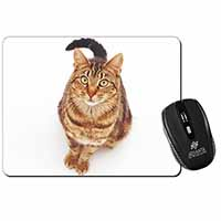 Brown Tabby Cat Computer Mouse Mat Birthday Gift Idea