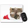 Kittens in Christmas Hat Computer Mouse Mat Christmas Gift Idea