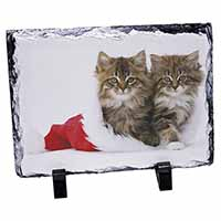 Christmas Kittens Photo Slate Christmas Gift Idea