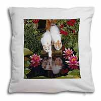 Turkish Van Cats by Fish Pond Soft Velvet Feel Cushion Cover With Pillow Inner