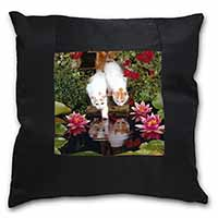 Turkish Van Cats by Fish Pond Black Border Satin Feel Cushion Cover+Pillow Inser