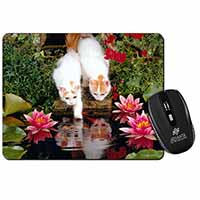 Turkish Van Cats by Fish Pond Computer Mouse Mat Birthday Gift Idea