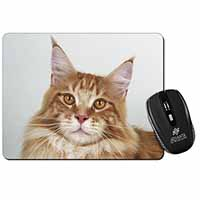 Pretty Face of a Ginger Cat Computer Mouse Mat Birthday Gift Idea