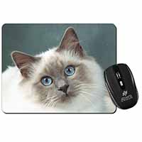 Face of a Beautiful Birman Cat Computer Mouse Mat Birthday Gift Idea