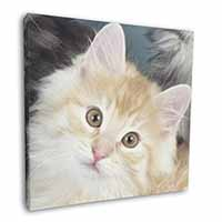 "Ginger Kitten 12""x12"" Canvas Wall Art Picture Print"