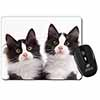 Black and White Kittens Computer Mouse Mat Christmas Gift Idea