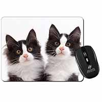 Black and White Kittens Computer Mouse Mat Birthday Gift Idea