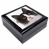 Black and White Cat Keepsake/Jewellery Box Birthday Gift Idea