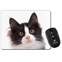Black and White Cat Computer Mouse Mat Birthday Gift Idea