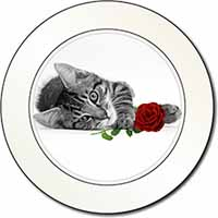 Cat with Red Rose Car/Van Permit Holder/Tax Disc Gift