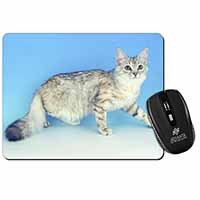 Siberian Silver Cat Computer Mouse Mat Birthday Gift Idea