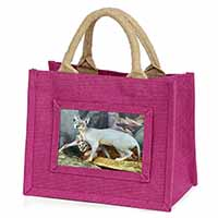 Sphynx Cat Little Girls Small Pink Shopping Bag Gift Idea