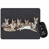 Bengal Kittens Posing for Camera Computer Mouse Mat Birthday Gift Idea