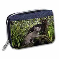 Two Burmese Cats Girls/Ladies Denim Purse Wallet Birthday Gift Idea