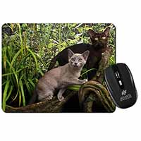 Two Burmese Cats Computer Mouse Mat Birthday Gift Idea