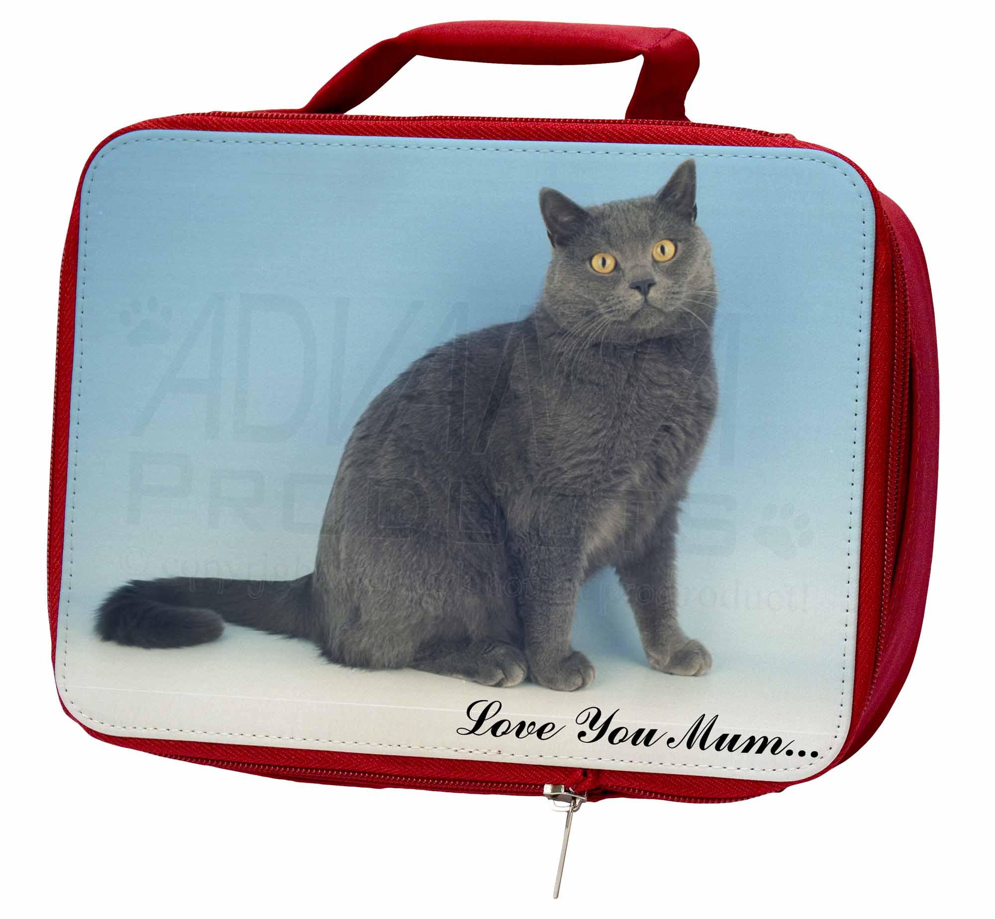 Chartreax Cat 'Love Insulated You Mum' Insulated 'Love Red School Lunch Box/Picnic , AC-34lymLBR fa50ad